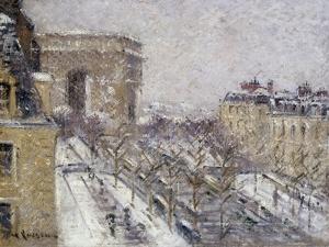 L'Arc de Triomphe, Paris France by Gustave Loiseau