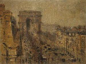 L'Avenue De Friedland, Paris, Cloudy Sky; L'Avenue De Friedland, Paris, Ciel Nuageux, 1925 by Gustave Loiseau
