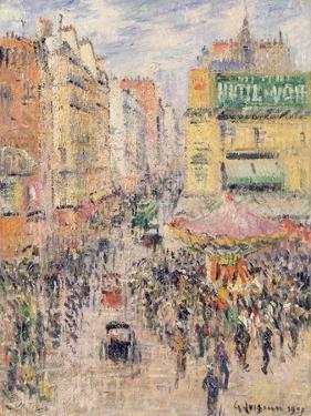 La Rue De Clignancourt, 1925 by Gustave Loiseau