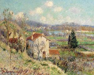 La vallée de l'Oise, environs de Pontoise, 1905 by Gustave Loiseau