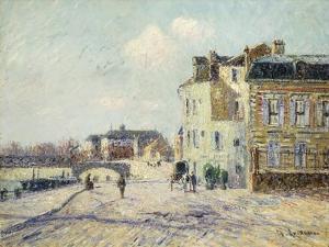 Le Quai De L'Oise a Pointoise, 1908 by Gustave Loiseau