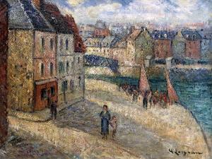 Quai a Dieppe by Gustave Loiseau
