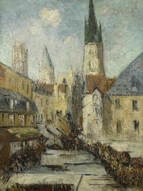 Rue De L'Epicerie Et La Cathedrale De Rouen, C.1929 by Gustave Loiseau