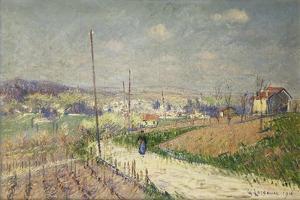 Spring in Ile De France; Printemps En Ile De France, 1916 by Gustave Loiseau