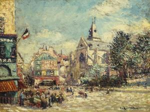 The Church of Saint Medard and the Mouffetard Road in Paris by Gustave Loiseau