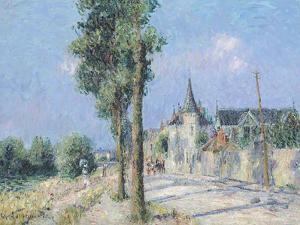The Quay Ponthius, Pontoise by Gustave Loiseau