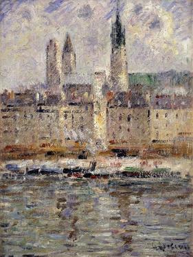 View of Rouen; Vue De Rouen, 1927 by Gustave Loiseau