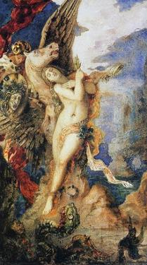 Perseus and Andromeda, C.1867-69 (W/C and Pen on Paper) by Gustave Moreau