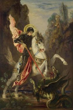Saint George and the Dragon, 1889-1890 by Gustave Moreau