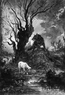 The Wolf and the Lamb by Gustave Moreau