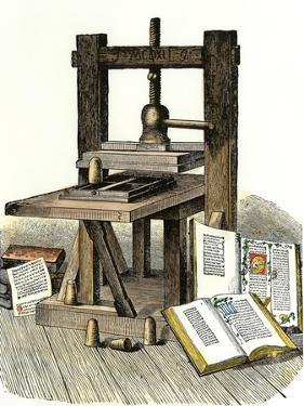 Gutenberg's Printing Press, Mainz, Germany, 1450s