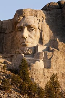 Abraham Lincoln on Mount Rushmore Memorial by Gutzon Borglum