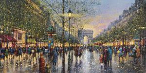 Paris Champs Elysees - Detail by Guy Dessapt