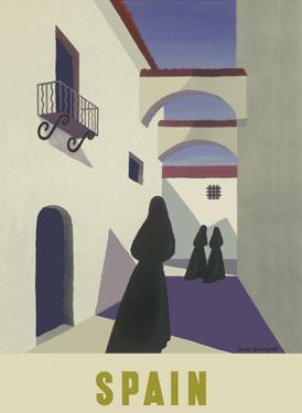 Spain - Spanish Women in Black Mantillas by Guy Georget