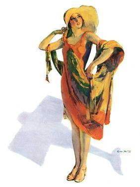 """""""Beach Costume,""""August 9, 1930 by Guy Hoff"""