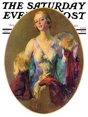 """""""Elegant Woman,"""" Saturday Evening Post Cover, July 30, 1932 by Guy Hoff"""