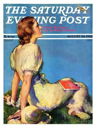 """""""Inspired by Poetry,"""" Saturday Evening Post Cover, August 24, 1935"""