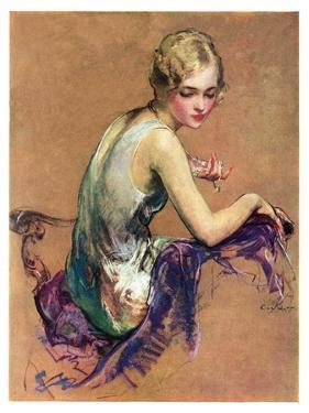 """""""Pastel Portrait,""""January 24, 1931 by Guy Hoff"""