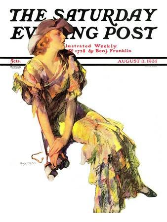 """""""Summer Frock,"""" Saturday Evening Post Cover, August 3, 1935"""