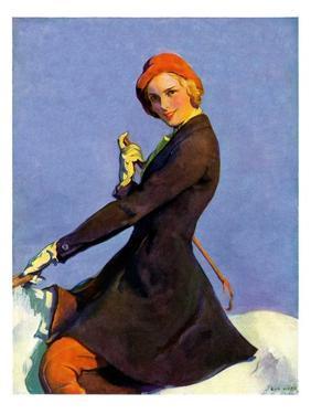 """Woman on Horseback,""September 17, 1932 by Guy Hoff"