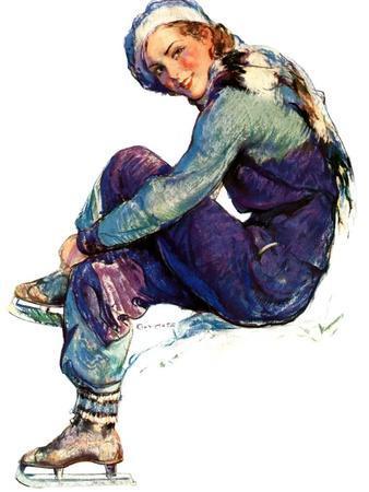 """Woman Skater,""January 21, 1933"