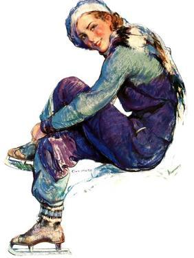 """""""Woman Skater,""""January 21, 1933 by Guy Hoff"""