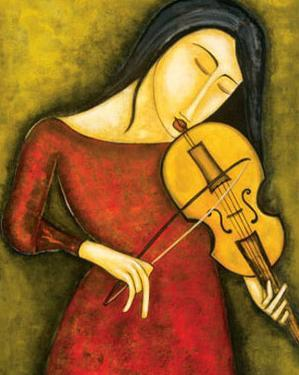 Celeste au Violon by Guy Mourand