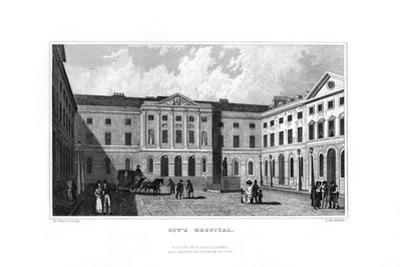 Guy's Hospital, Southwark, London, 1829 by J Rogers