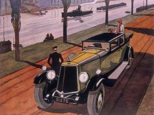 Poster Advertising Armstrong Siddeley Cars, 1930 by Guy Sabran