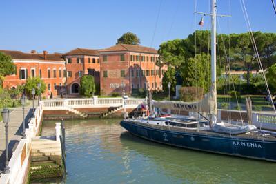 Armenian Monastery, San Lazzaro Degli Armeni, and Armenian Sail Boat, Venice, Veneto, Italy by Guy Thouvenin
