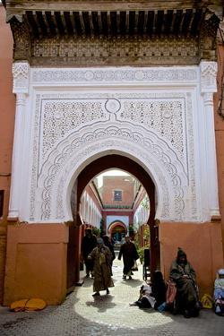 Bab Taghzout, Medina, UNESCO World Heritage Site, Marrakech, Morocco, North Africa, Africa by Guy Thouvenin