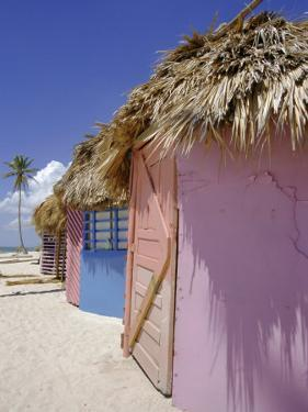Beach Huts, Dominican Republic, Caribbean, West Indies by Guy Thouvenin