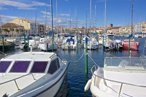 Boats in Marina, Meze, Herault, Languedoc Roussillon Region, France, Europe by Guy Thouvenin
