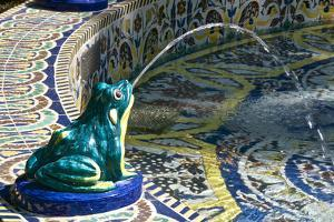 Ceramic Frog Spitting Out Water, Frogs Fountain, Maria Luisa Park, Seville, Andalusia, Spain by Guy Thouvenin