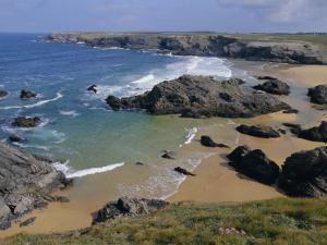 Donnant Beach, Belle Ile En Mer Island, Brittany, France, Europe by Guy Thouvenin