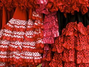 Flamenco Dresses, Seville, Andalucia, Spain, Europe by Guy Thouvenin