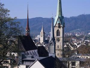 General View from University, Zurich, Switzerland by Guy Thouvenin