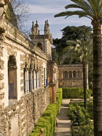 Grotesque Gallery in Reales Alcazares Gardens (Alcazar Palace Gardens), Seville, Spain