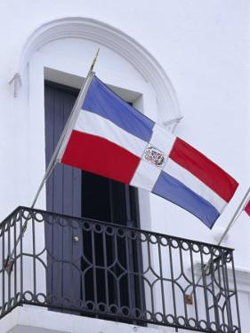 National Flag, Dominican Republic, Caribbean, West Indies by Guy Thouvenin