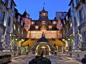 Normandy Barriere Hotel in the Evening, Deauville, Normandy, France by Guy Thouvenin