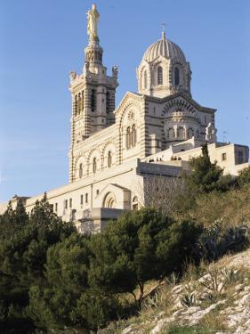 Notre Dame De La Garde, Marseille, Bouches-Du-Rhone, Provence, France by Guy Thouvenin