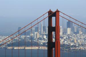 San Francisco Seen Trough Golden Gate Bridge. by Guy Vanderelst