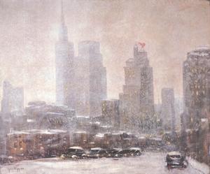 Winter in Downtown Dallas by Guy Wiggins
