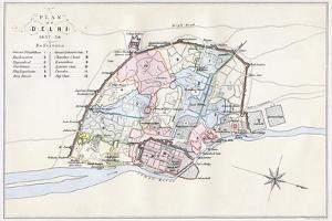 Plan of Delhi, India, 1857-1858 by Guyoy & Wood
