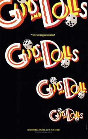 Guys and Dolls - Broadway Poster