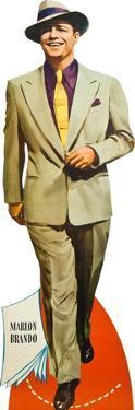 Guys and Dolls, Marlon Brando on poster art, 1955