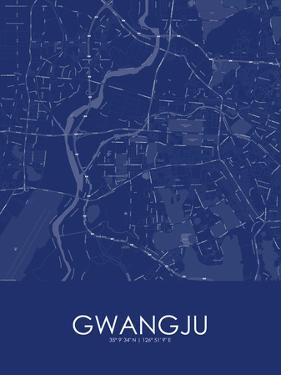 Gwangju, Korea, Republic of Blue Map