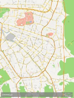 Gwangju, Korea, Republic of Map