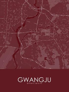 Gwangju, Korea, Republic of Red Map