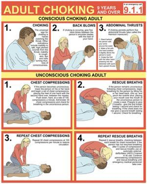 Choking First Aid Chart by Gwen Shockey
